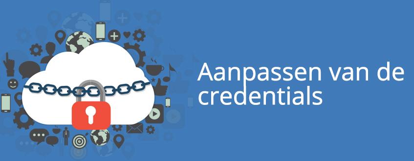 Het aanpassen van de proxy credentials