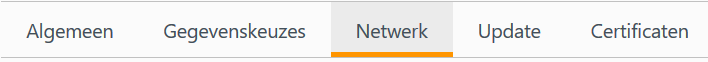 SOCKS5 Proxy - Mozilla FireFox geavanceerde proxy instellingen menu